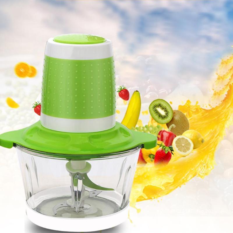 2L Electric Meat Grinder Stainless Steel Fruit Vegetable Shredder Slicer Mincer Cutter Blender Kitchen Accessories