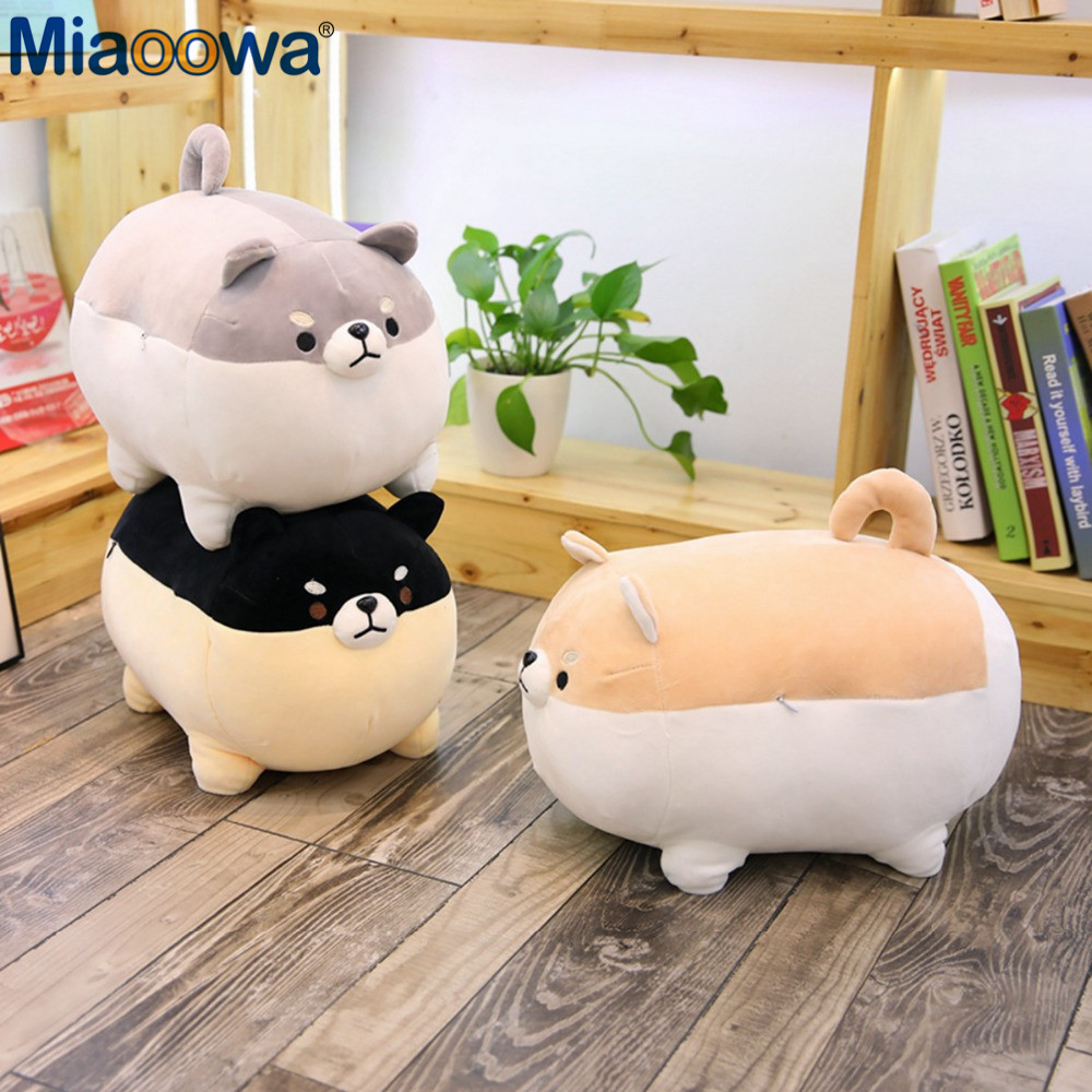 New 40/50cm Cute Shiba Inu Dog Plush Toy Stuffed Soft Animal Corgi Chai Pillow Christmas Gift for Kids Kawaii Valentine Present(China)