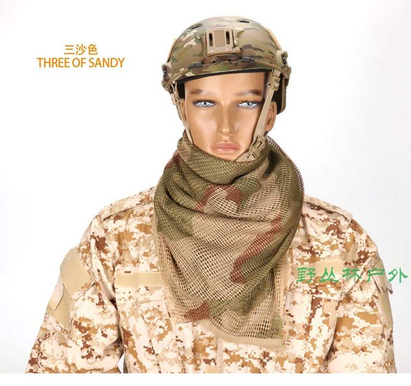 Camo Snood Mask Head Neck Cover Camouflage A scarf Shooting Military Tactical