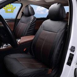 Брендовые чехлы для автомобильных сидений из искусственной кожи, универсальные, подходят для большинства автомобильных чехлов, Дышащие че...