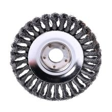 25MM Aperture 8 Inch Steel Wire Weeding Brush Twisted Wire Bowl Type Rotating Wire Wheel Weed Trimmer Brush