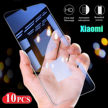 10 PCS Tempered Glass For Xiaomi Mi 9 SE Mi9 10 lite 9T Pro mi8 A3 Screen Protector For Mi Pocophone 2 Pro Mix 3 Protective Film
