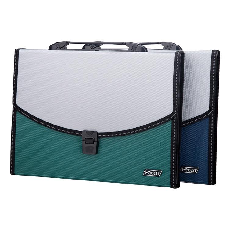 1Pcs A4 File Folder Storage Bag Multi-layer Paper Student Desk Organizer Binder School Office Accessories Supplies Stationery