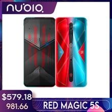 Nubia RedMagic 5S SmartPhone 144Hz Qualcomm Snapdragon 865 8/ 12G 128/ 256G 64MP Sony Triple kamera 4500mAh Handys