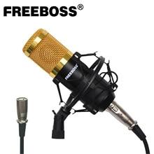 BM 800 48V Power Phantom Metal Shock Mount profesjonalne Studio nagrań Chorus Broadcasting komputer mikrofon kondensujący