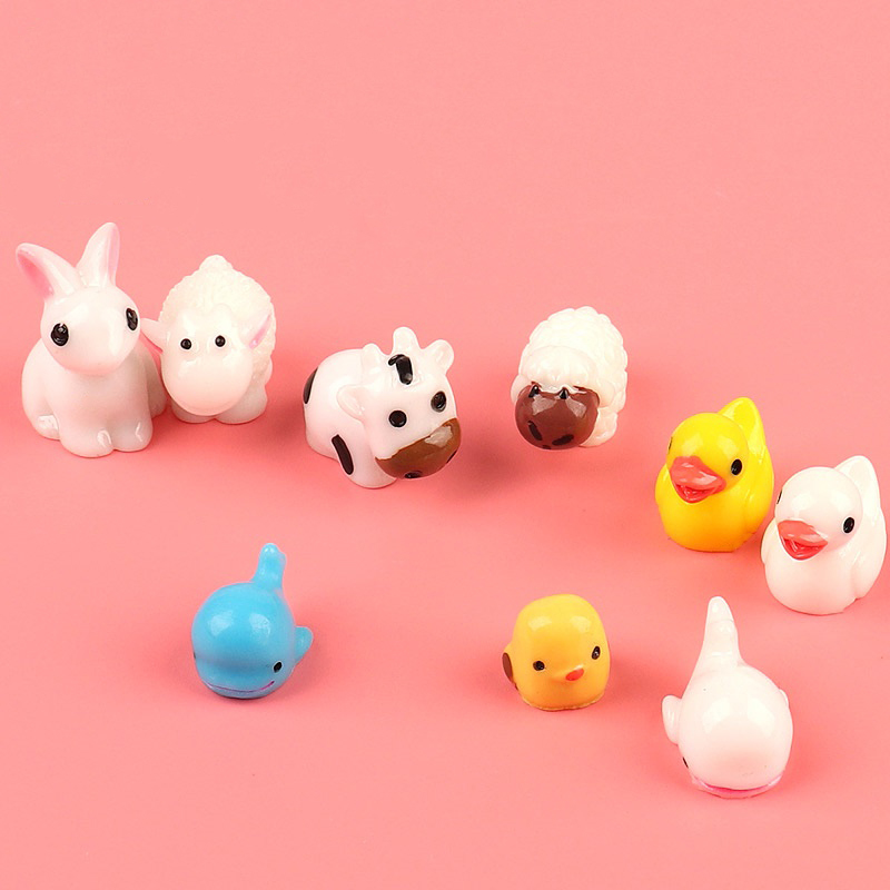 Happy Monkey Kawaii Animal Slime Additives Charms Supplies Cute Resin Cow Duck DIY Decor For Fluffy Clear Crunchy Slime Clay