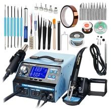 Yihua 992DA + 4 In 1 Lcd Digitale Heteluchtpistool Soldeerstation + Vacuüm Pen + Roken Elektrische Solderen ijzer Bga Rework Station