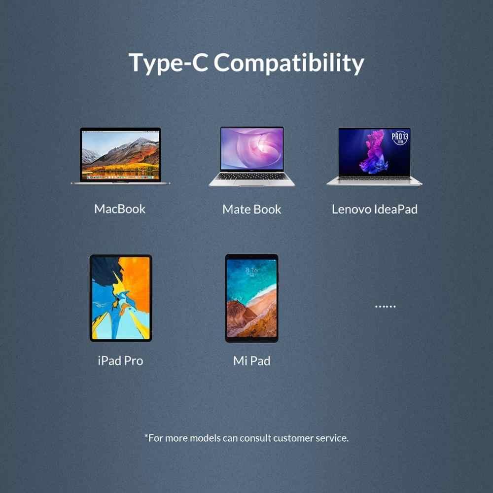 Orico, placa de rede usb c para rj45 gigabit ethernet lan adaptador tipo c placa de rede 10/100/1000 para macbook pro ipad windows 8 10,
