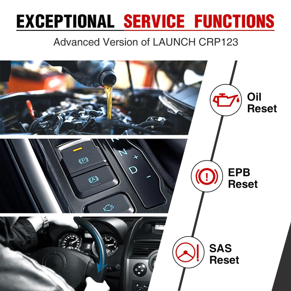 Image 4 - LAUNCH CRP129 OBD2 Scanner Auto Code Reader ABS Airbag Engine Transmission Diagnostic Scan Tool with EPB SAS Oil Resetlaunch creadercrp 129launch creader crp129 -