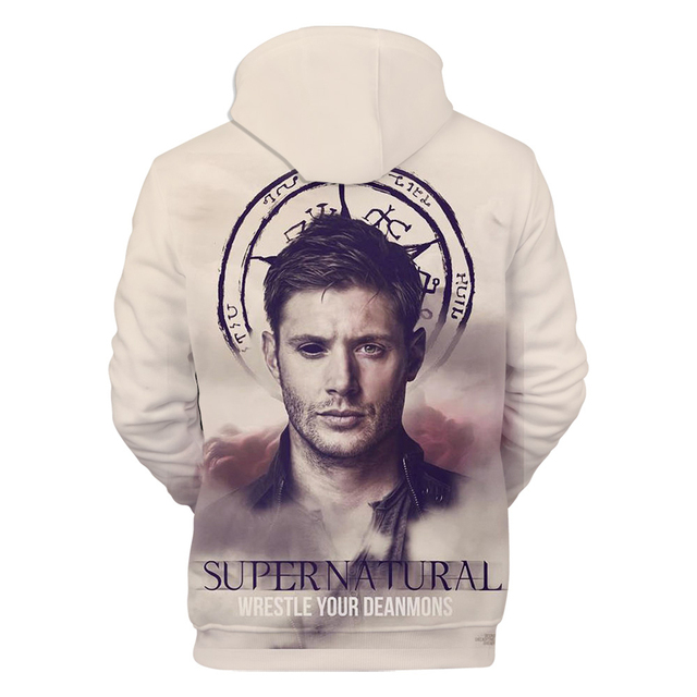 3D SUPERNATURAL THEMED HOODIE