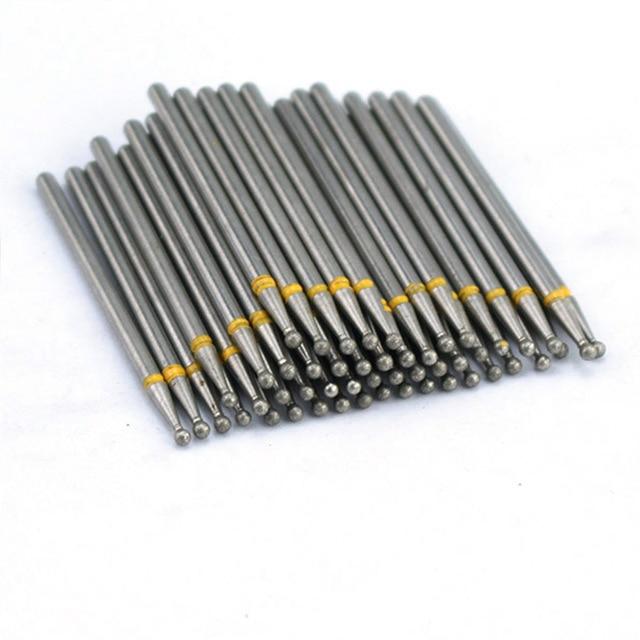 50pcs Diamond Nail Drill Bit for Electric Manicure Machine Accessories Nail Art Tools Polish Remover Mills Cutter Nail Files 3