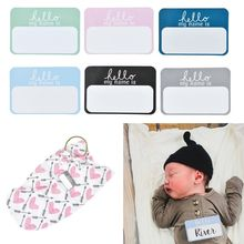 6 Pcs/set Name Tag Labels Hello My Is sticker Baby Announcement Sticker Newborn Hospital Photography Props School Office St