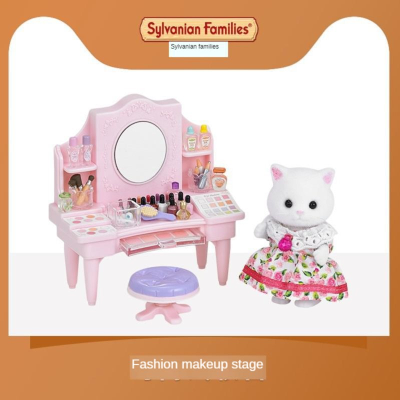Semipkg Children Sylvanian Families Toy Fashion Try Dresser GIRL'S Play House Model Doll Toy 5235