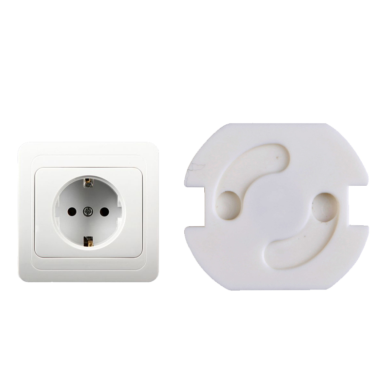 10pcs 2 Hole Round EU Standard Electrical Outlet Baby Children Safety Guard Protection Anti Electric Shock Plugs Protector Cover