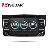 Isudar 2 Din Auto Radio Android 9 For SKODA/Yeti/Octavia 2009 2010 2012 Quad Core RAM 2G Car Multimedia Video DVD Player GPS DVR