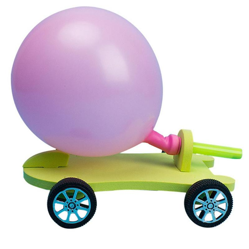Student DIY Filler Balloon Car Science Experiment Equipment Children Craft Toys Understand Recoil Movement Characteristics