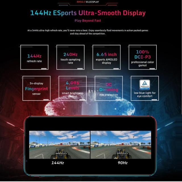 "Nubia Red Magic 5G SmartPhone Snapdragon 865 WIFI 6 Redmagic Mobile Phone 64.0MP 6.65 "" 4500mAh 144Hz Amoled Google Play"