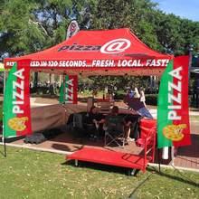 Swooper bandeira e pólo kit, sinal de publicidade bandeira de penas para restaurante (pizza, churrasco, sorvete, kekab, sanduíches, frites, café)
