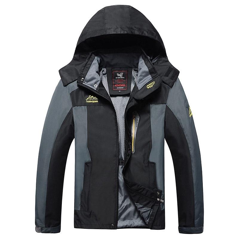 Autumn Men Windbreaker Male Windproof Waterproof Hood Jacket Plus  Big Size 5XL 6XL 8XL 9xl Man Coat Work Clothing Outwearmen coat  autumnmen coathooded jacket