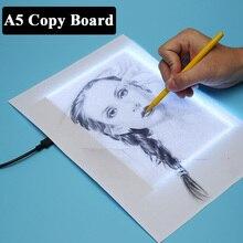 Tableta gráfica de tablero de copia Digital A5 para Panel de visualización de señal de dibujo, plantilla luminosa, artista gráfico, tablero de dibujo fino, LuzTabletas digitales