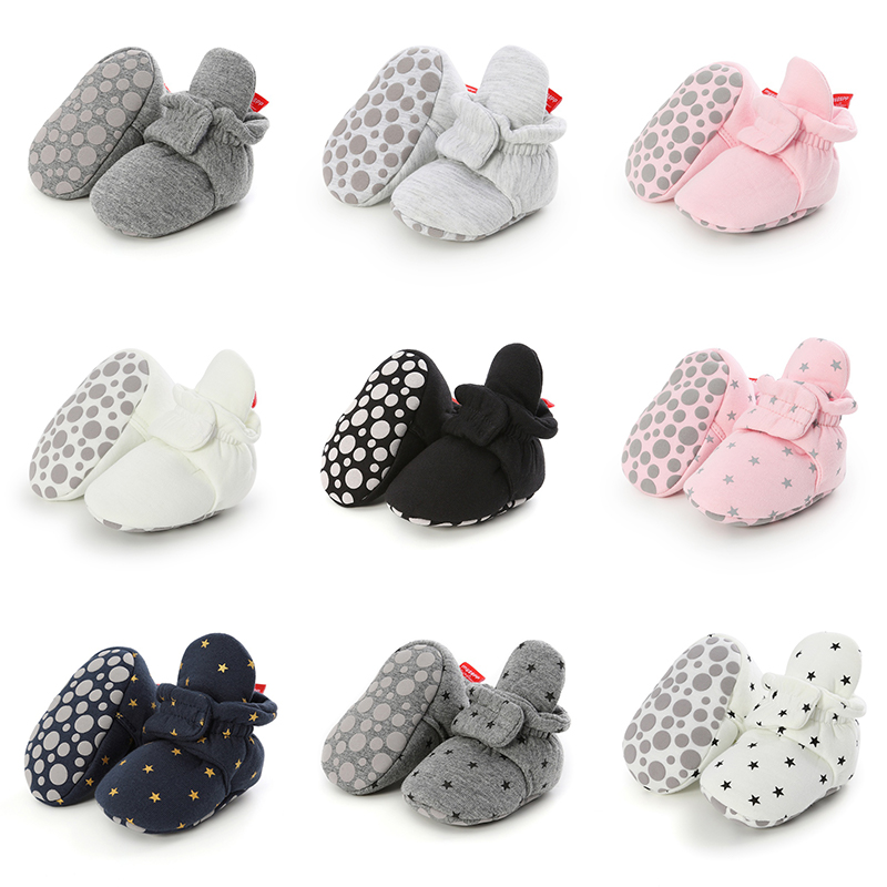 27 Colors Baby Girl Winter Warm First Walkers Baby Girls Striped Cotton Shoes For 0-18M Child Kids Booties Crib Shoes Home Shoes