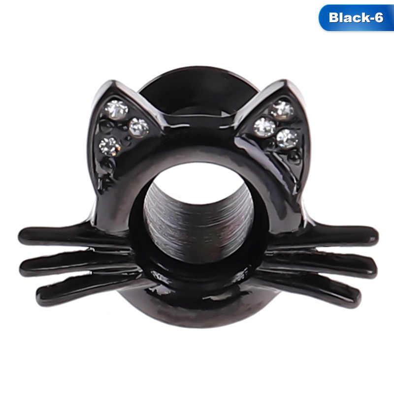 1 pc 고양이 나사 귀 게이지 육체 터널 플러그 들것 확장기 피어싱 귀여운 인기 귀걸이