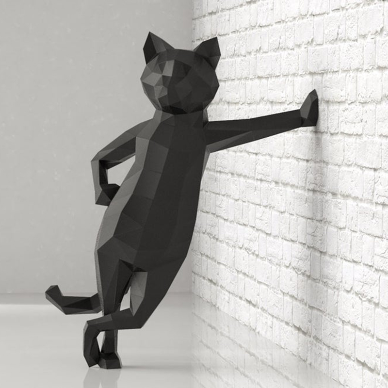 Papercraf 3d Paper Animal Models Doberman Pinscher Cat Papercraft Toy Home Decor Wall Decoration Puzzles Eductional DIY Toys