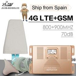 Полный смарт 4G LTE 800 mhz B20 GSM 900 mhz усилитель сигнала мобильного телефона GSM LTE 4G повторитель сотового телефона