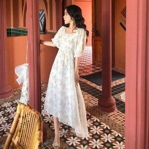 Новое летнее платье 2020 длинное шифоновое платье с цветочным рисунком для девочек