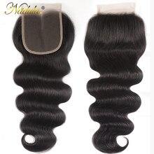 Nadula Hair 5x5 HD chiusura in pizzo parte centrale/parte libera chiusura malese dell'onda del corpo 10-20 pollici chiusura svizzera del merletto 100% capelli umani