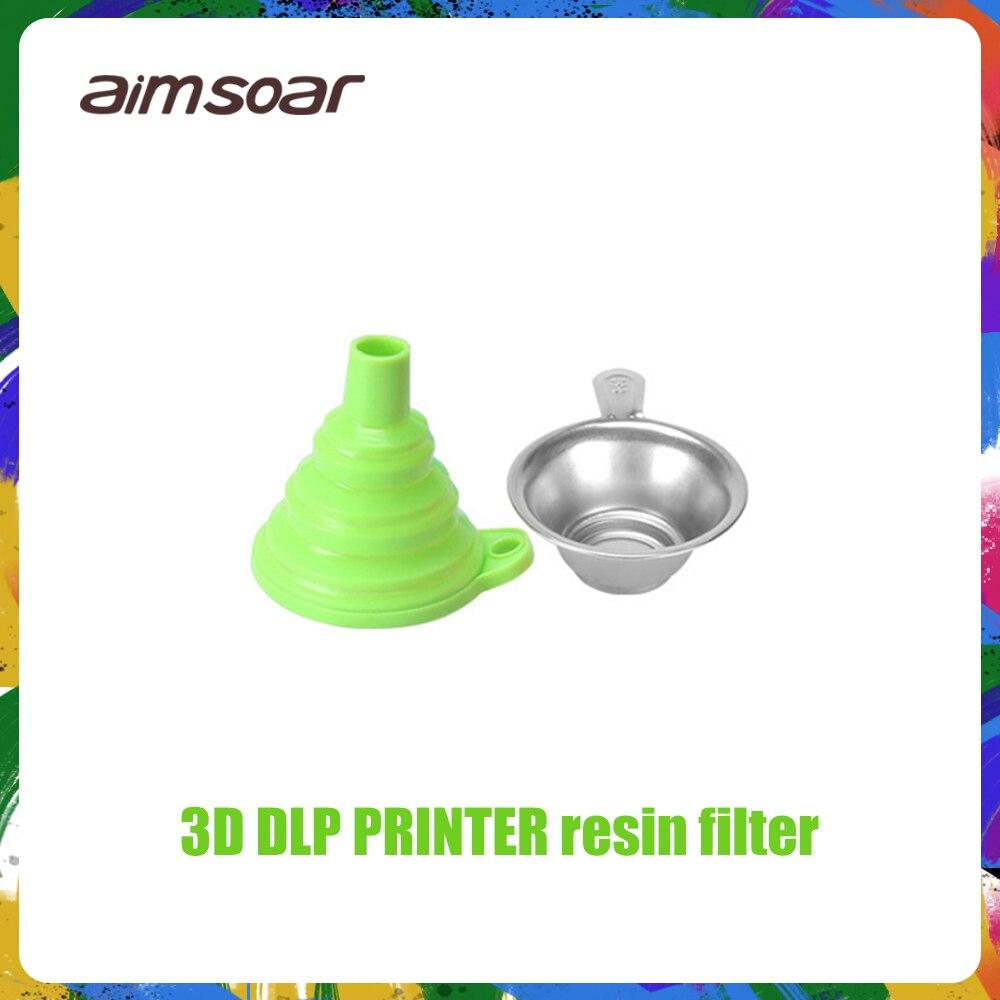 Полимерный жидкий фильтр-воронка металлический УФ-фильтр из смолы + силиконовая воронка для ANYCUBIC Photon SLA 3d принтера