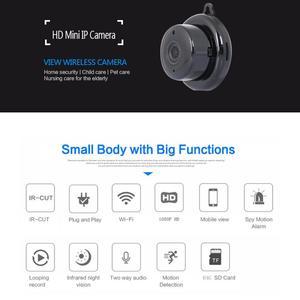 Image 4 - Cámara inalámbrica PTZ Wi Fi Micro Video CCTV vigilancia de seguridad con Wifi Mini cámara IP Nanny Cam Camara para el Sensor de movimiento del teléfono