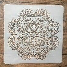 Wall-Painting Layering Stencil Mandala Plastic Embossing-Album-Decorative-Template Geometry