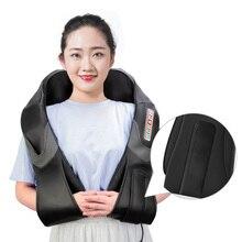 Masajeador eléctrico Shiatsu con forma de U para espalda, cuello y hombros, masaje caliente por infrarrojos, para coche y hogar