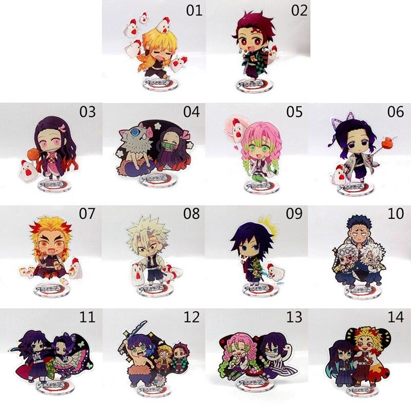 Anime Demon Slayer Kimetsu No Yaiba Kamado Tanjirou Nezuko Kanawo Zenitsu Inosuke Giyuu Acrylic Stand Figure Model Toys