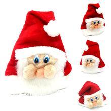 Мягкая фланелевая шапка Санта-Клауса для взрослых и детей; вечерние рождественские шапки из мягкого фланелевого материала; легко чистить. Опора
