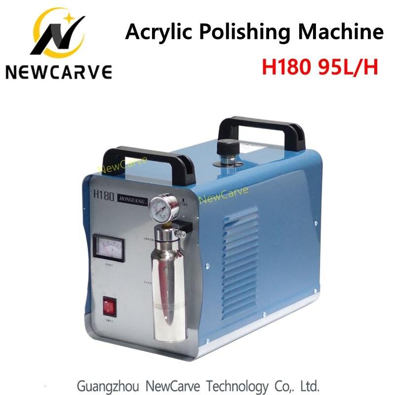 Acrylic Flame Polishing Machine H180 95L Oxygen Hydrogen Polisher Jewelry Polisher Flame Welder 220V NEWCARVE