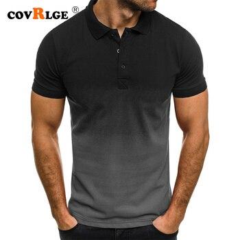 PoloShirt 3D Mens Gradient Golf Tennis Shirt Ens Turn-Down Collar Shirts Plus Size 5XL Cotton Short Sleeve Tee Tops MTP143