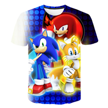 T-Shirt Children Sonic-Tops Short-Sleeves Girls Clothes Supe Kids Summer Baby Boys Fashion