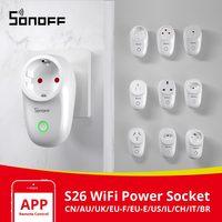 Itead Sonoff S26 Wifi Smart Plug Schakelaar EU-E/EU-F/Uk/Au/Us/Br/Het/Il/Ch/Cn Timer Stopcontact E-Welink Stekkers Werken Met Alexa