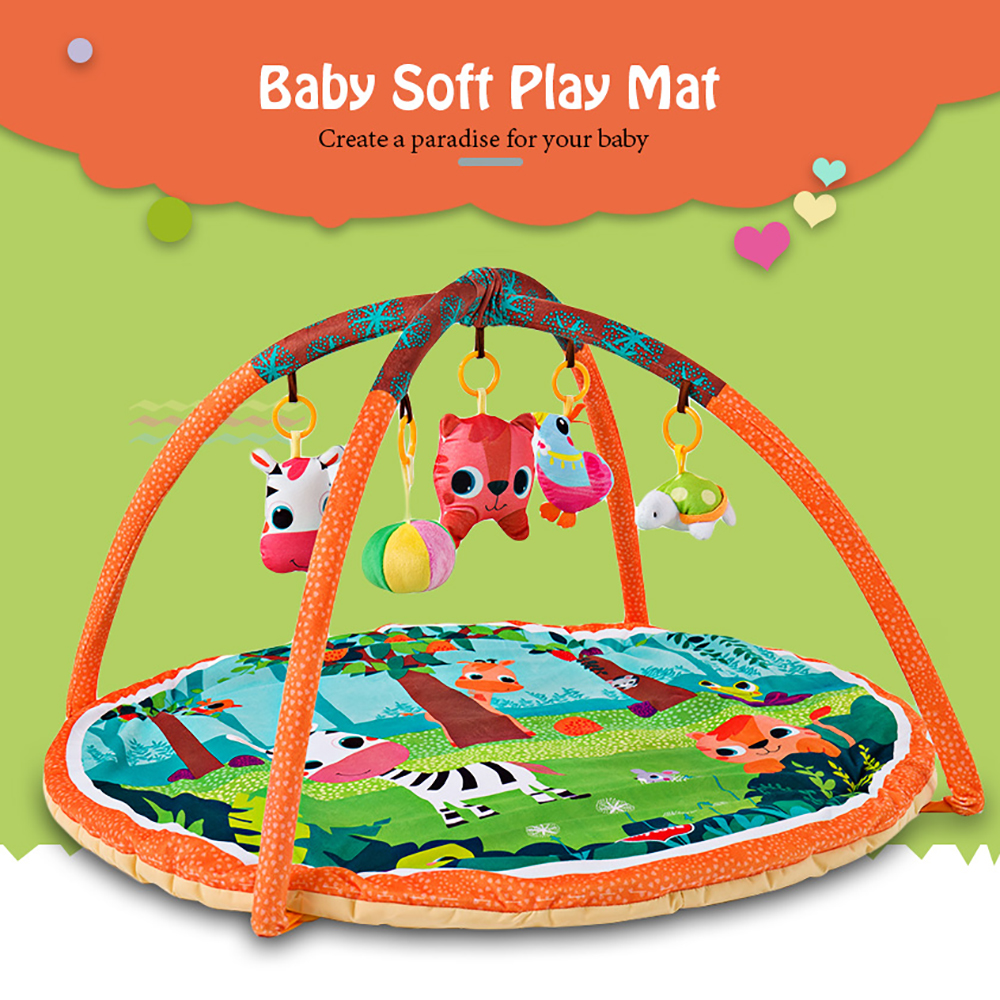 Pink//Blue Soft Crawling Pad Blanket Cartoon Moon Bear Baby Activity Gym Play Mat