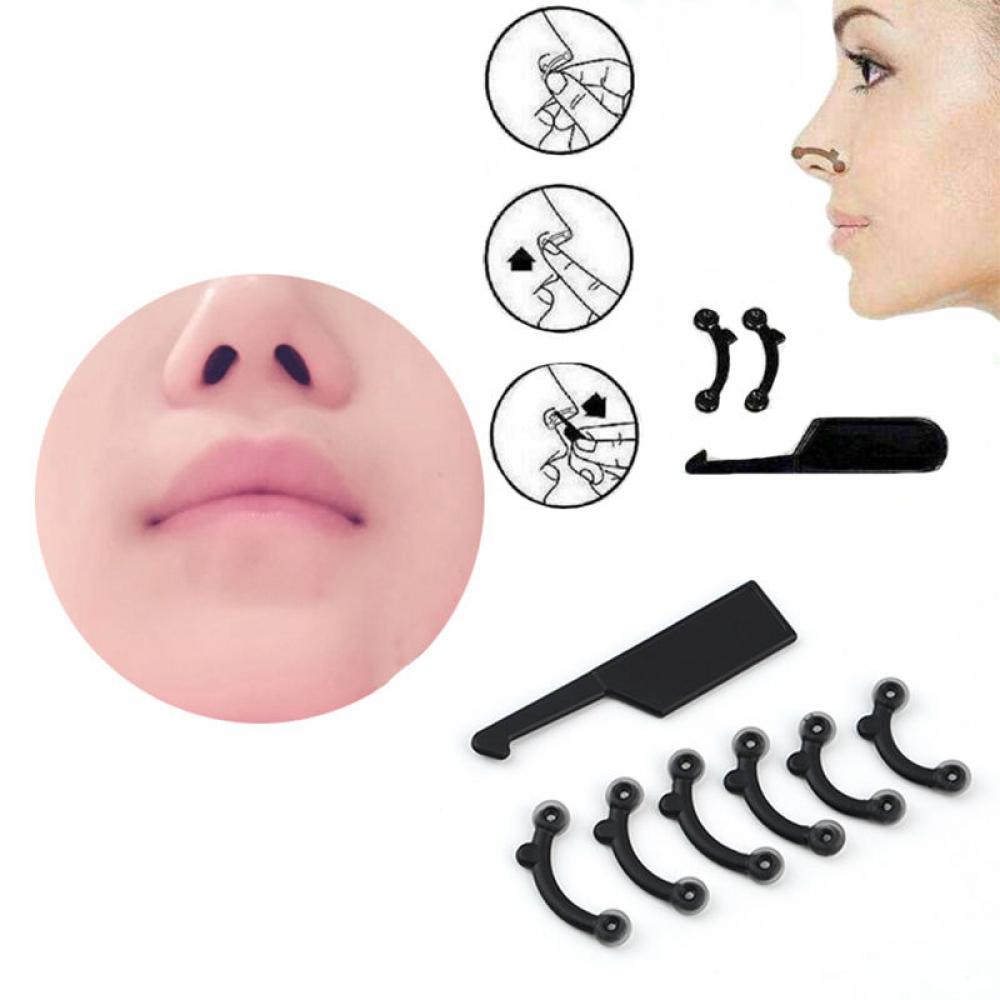 6 шт./компл. 3 размера Красота поднятие носа мост Shaper Массажный инструмент не боль формирование носа клип машинка для стрижки Для женщин дево...