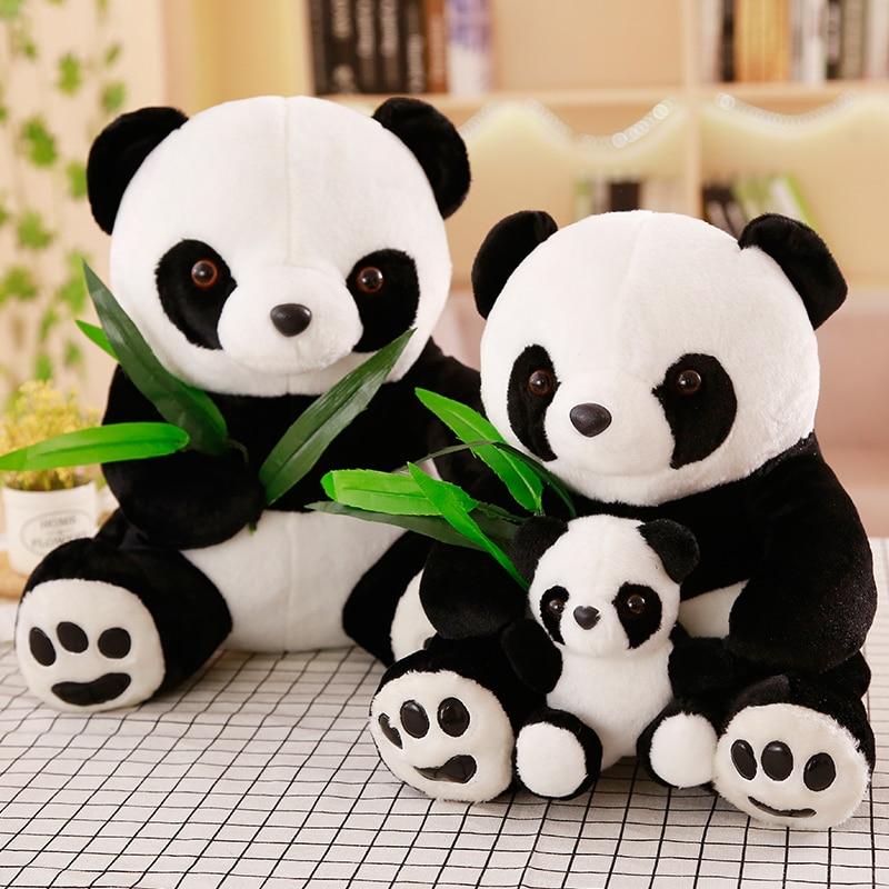 18-50cm 1Pc HEIßER Große Größe Panda Puppe Plüsch Spielzeug Baby Bär Kissen Panda Tuch Puppe Kinder spielzeug Baby Geburtstag Geschenk Für Kinder