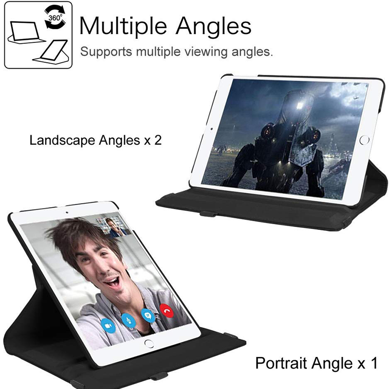 Stand PU Case Cover 8th 7th Flip 10.2 2020 iPad 360 Degree Leather 2019 For Rotating