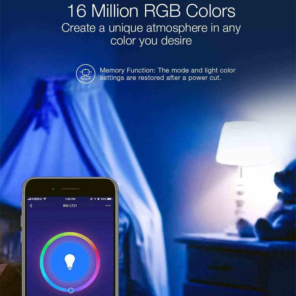 BlitzWolf BW-LT21 3000K + RGB الذكية واي فاي LED مصابيح لمبة الذكية مع APP التحكم عن بعد دعم الأمازون لصدى لجوجل المنزل