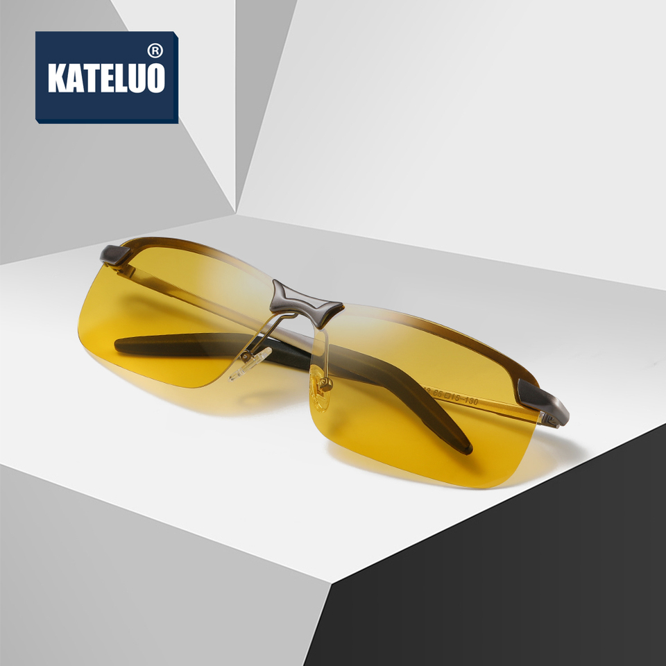 Men/'s Sunglasses Yellow HD Anti Glare Lens UV400 Retro Vintage Travel Eyewear