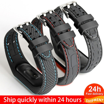 Bracelet For Xiaomi Mi Band 3 4 5 Sport Band Watch Silicone Wrist Strap For Xiaomi Mi Band 3 45  Bracelet For Mi Band 5 4 3 Band