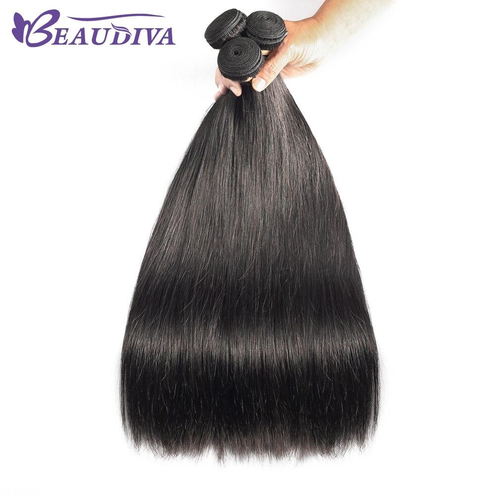 Beaudiva Straight Hair  Straight   Bundles Natural Black 1/3/4 pcs/lot 100%  Bundles  Hair 1
