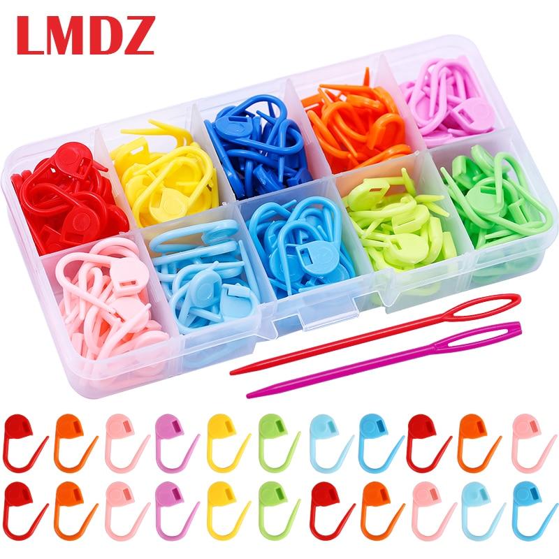 LMDZ 150/100/104 Pcs Locking Stitch Markers Colorful Plastic Knitting Crochet Locking Markers Crochet Needle Clip Hook Tool