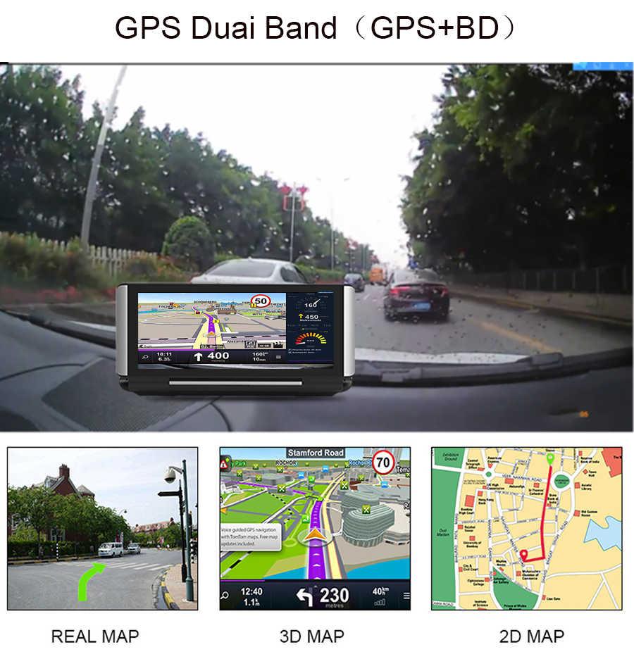 Anfilite coche Dvr 4G Android 7 pulgadas Dash Cam 1080P Video Recorder GPS navegación ADAS cámara con cámara de visión trasera Auto Dvr